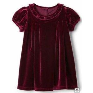 NWT 6-12 Mths GAP Burgundy Velvet Dress & Panties